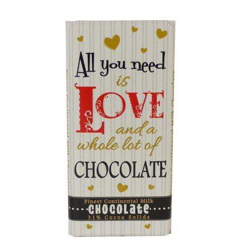 Chocolate Bar - All You Need Is Love And Chocolate