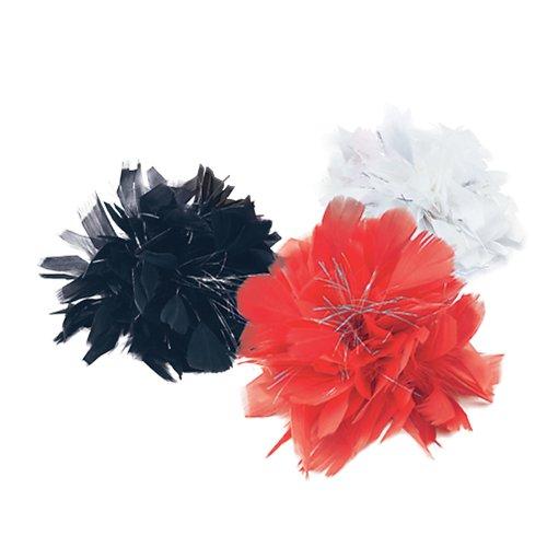 White Feather & Tinsel Hair Clip -  hair clip fancy dress white feather party tinsel black red FANCY DRESS WHITE FEATHER TINSEL HAIR CLIP PARTY PRETTY
