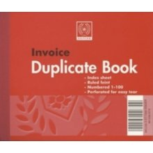 Silvine Duplicate Invoice Book Feint 200 Sheets Small - Pack Of 12
