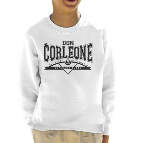 Don Corleone Superano Tutto The Godfather Kid's Sweatshirt