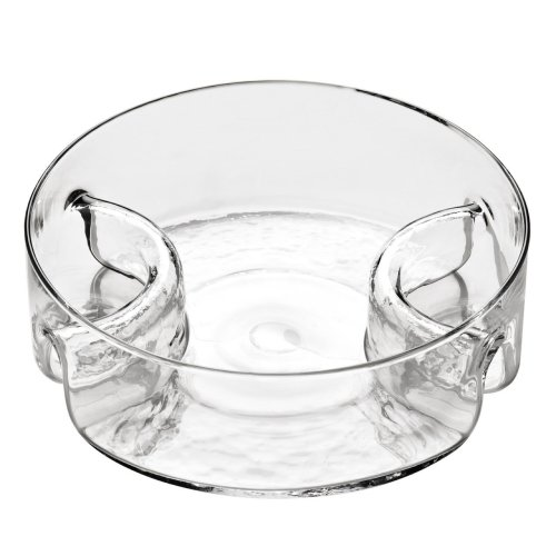 Glass 3 Section Serving Dish, Clear