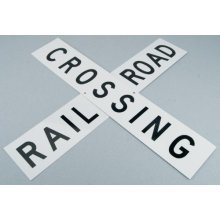 "24"" Die-Cut Metal Sign, RR Crossbuck"