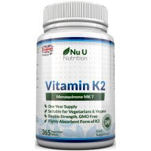 Vitamin K2 MK 7 200mcg – 365 Vegetarian and Vegan Tablets