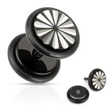 Urban Male Stainless Steel Fake Black Ear Stretching Flesh Plug