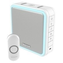 Wireless Portable Doorbell with Range Extender, Sleep Mode and Wired to Wireless Converter – White