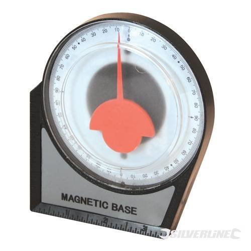 100mm Silverline Inclinometer -  inclinometer silverline 100mm angle 250471 scaffolding level roofing finder gauge