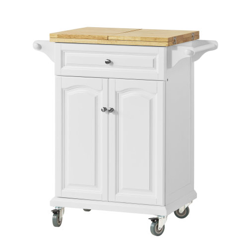 SoBuy® FKW36-WN, Kitchen Storage Trolley with Extendable Worktop
