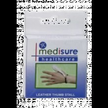 Large Medisure Leather Thumb Stall -  medisure soft leather thumb stall choose your size