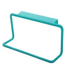 8 Pcs Blue Plastic Single Lever Back Style Towel Rack Towel Bar
