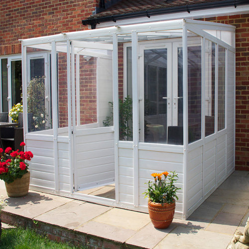 DIY Budget Plastic Glazed Sunroom Garden Room Conservatory Lean-To Cabin