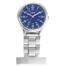Lorus Nurses Fob Watch Stainless Steel with Blue Dial RG251DX9