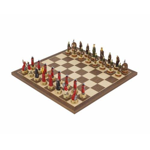 The England Vs Scotland Hand painted themed Chess set by Italfama