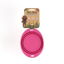 Beco Pets Travel Bowl, Small, Pink -  eco friendly beco bowl travel 3 silicone dog collapsible water easy pet fold up collapsable design sizes