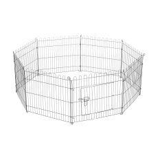 Pawhut 8 Panel Pet Cage Playpen Dog Puppy Metal Cage Kennel Indoor Outdoor
