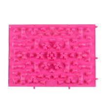 TPE Acupressure Foot Massage Mat Shiatsu Pressure Slab Toe Pad Pink A