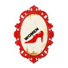 Decorative Wall Hanging Wall Accent Wall Door Hanging Plaques Women Red Sign