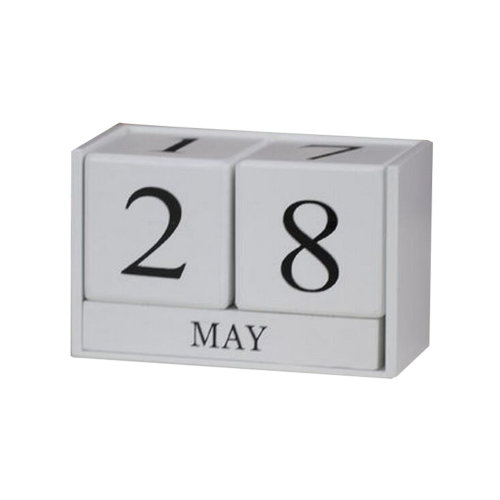 Wooden Permanent Calendar Creative Calendar Decoration For Home / Office -A17