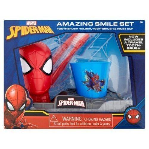 SpiderMan Amazing Smile Set  Toothbrush Holder, Toothbrush & Rinse Cup
