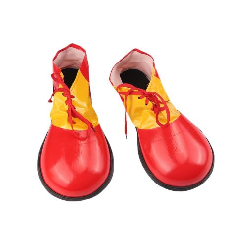 Artificial Leather Clown Shoes Pretend Games Shoes For Adults Party Clown Costume Supplies, Red
