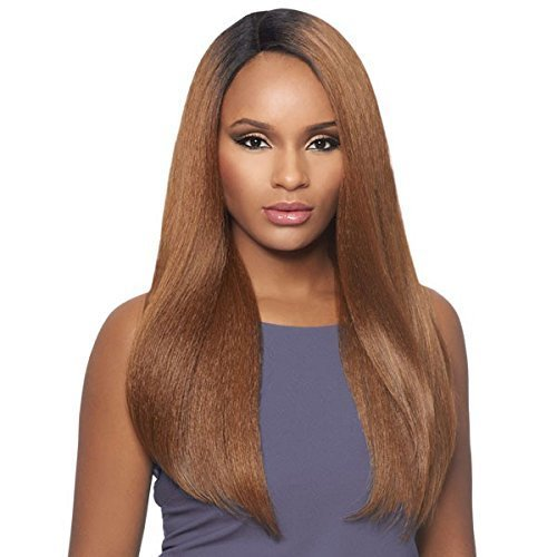 Outre Synthetic Lace Front Wig L Part Batik Dominican Blow Out Straight (1B)