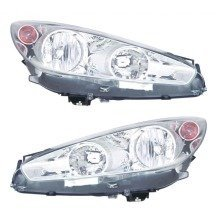Peugeot 308 Cc 6/2011-4/2014 Headlights Lamps Chrome Inner 1 Pair O/s & N/s