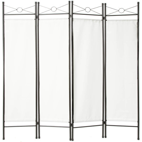 Room divider paravent white