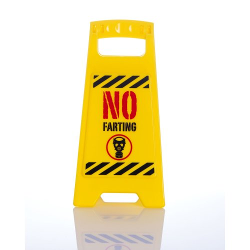 No Farting Desk Warning Sign