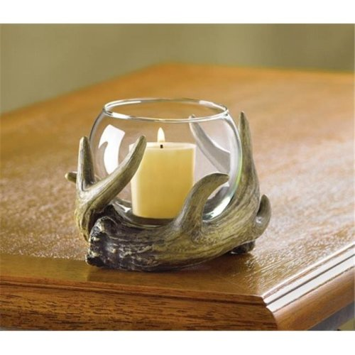 Zingz & Thingz 38444 Deer Antler Candle Holder