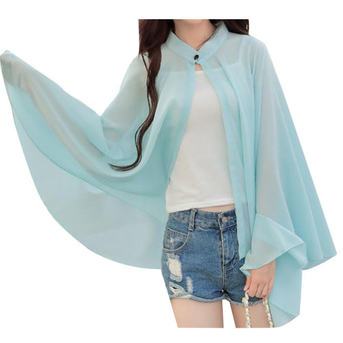 Sun Protective Clothing Women's Clothing Wraps Scarf Long Sleeve Shirts Green