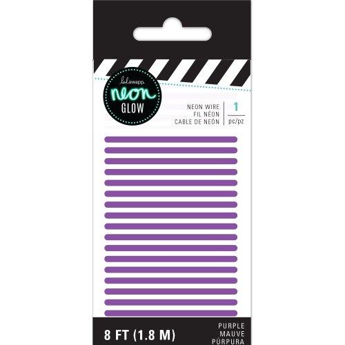 Heidi Swapp Neon Glow Wire 8'-Purple