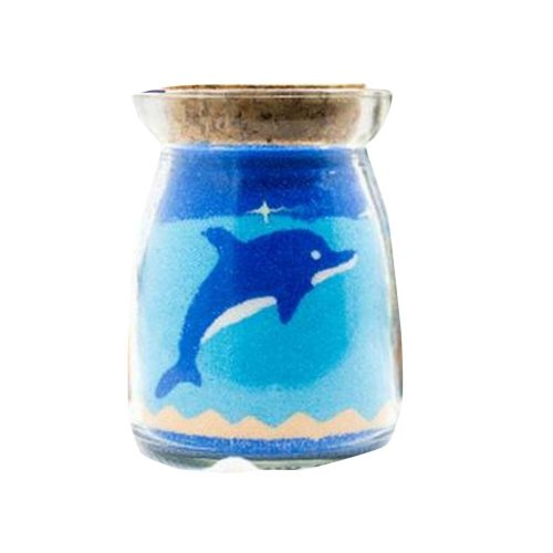 [Cute Dolphin] Blue Sand Picture in Bottle Gift
