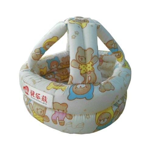 Protective Cartoon Bear Baby Drop Resistance Crash Helmet Headgear Safety Cap