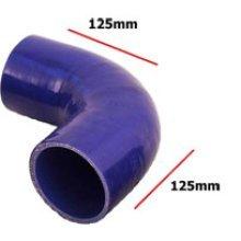 70mm Blue Internal 90 Degree Universal Silicone Hosing - Pipe 4 Ply Inside - Blue 90 Degree Universal Blue Silicone Hosing Pipe 4 Ply Inside Diameter