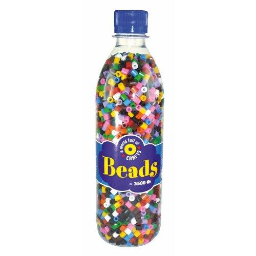 PBX2456001 - *Playbox - Beads in bottle (10 colour mix) - 3500 pcs
