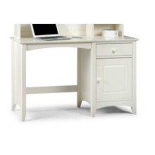 Treck White Stone Desk - 1 Door 1 Drawer - Fully Assembled Option Fully Assembled(+23) Chair(+50) Assembled Hutch (+164.99)