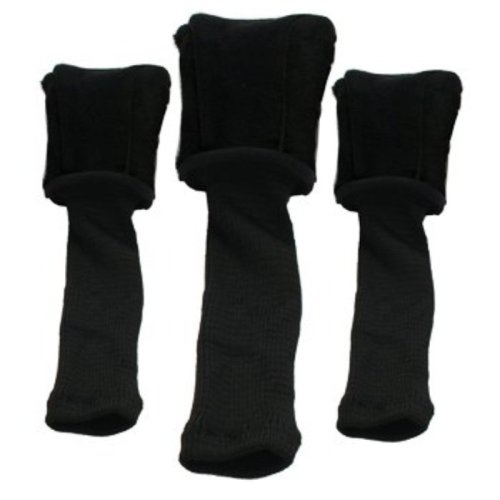 PROACTIVE SPORTS FORM-FIT GOLF HEADCOVERS-3-PACK BLACK