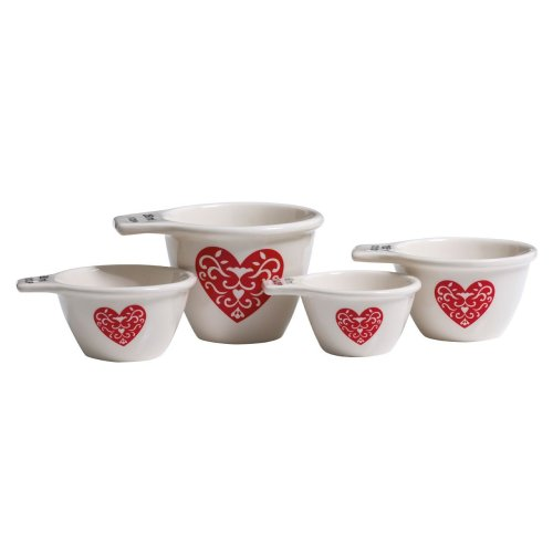 Heart Measuring Cups, Set Of 4