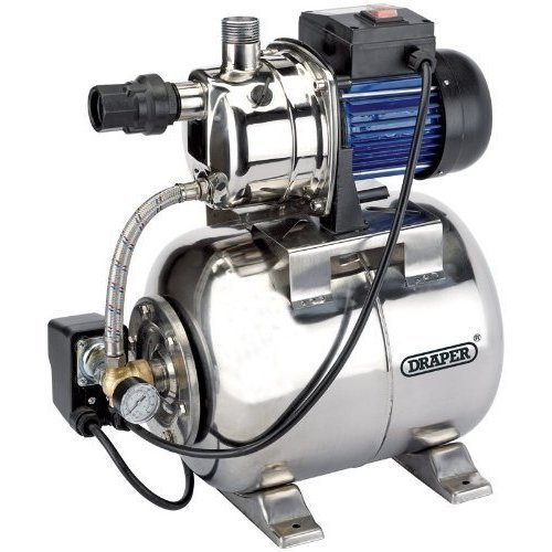 Booster Pump - Stainless Steel - Draper 800w 230v Body 53lmin Max 31561 -  draper stainless steel booster pump 800w 230v body 53lmin max 31561