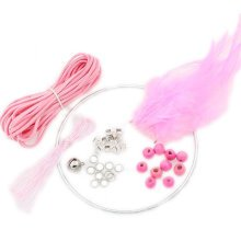 Set of 2 DIY Dream Catcher Craft Kit Meaningful Christmas Gifts - Pink