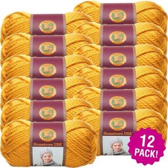 Lion Brand Hometown Usa Yarn 12/Pk-Madison Mustard
