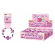 96 Wooden Flower Bracelets