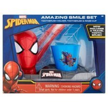 SpiderMan Amazing Smile Set  Toothbrush Holder, Toothbrush & Rinse Cup