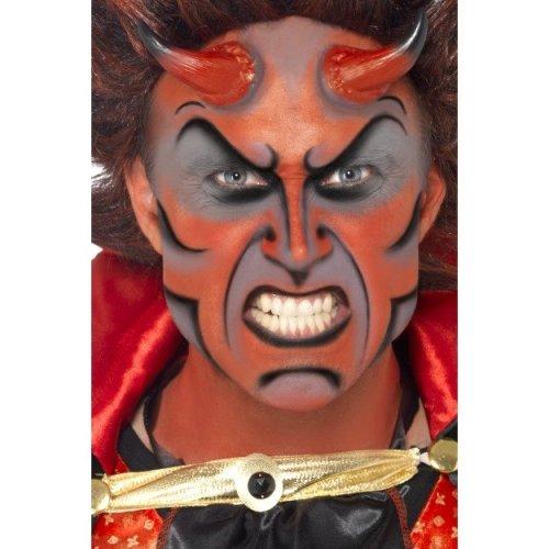 Smiffy's Devil Make-up Set With Horns - Kit Make Up Halloween Fancy Dress -  kit devil make up halloween fancy dress smiffys paint fx costume face