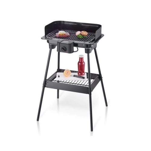 Severin Electric Barbecue Grill BBQ With Stand Metallic Black 2300W PG8523