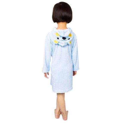 Lovely Cartoon Series Soft Baby Bathrobe/Hooded Bath Towel, Blue Bear (58*32CM)