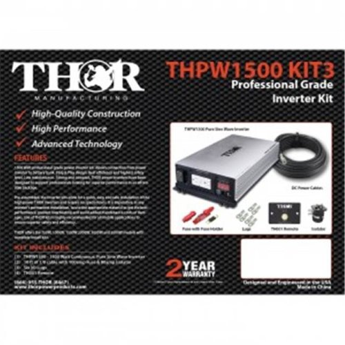 Thor THPW3000 KIT2 10 ft. of 3-0 Cable Remote with 300 amp Fuse