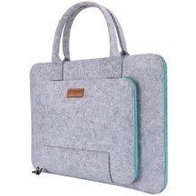 "Ropch 15 15.6"" Felt Laptop Sleeve Case Bag Pouch Grey & Light Blue"