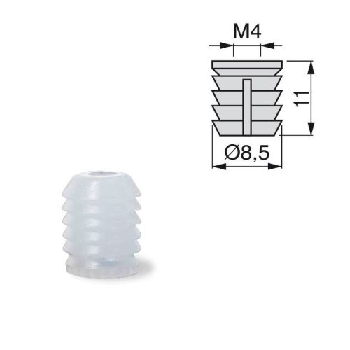 30x Furniture Connector Accessories Tool Plastic Pre-inserted Nut clear 8.5x11mm