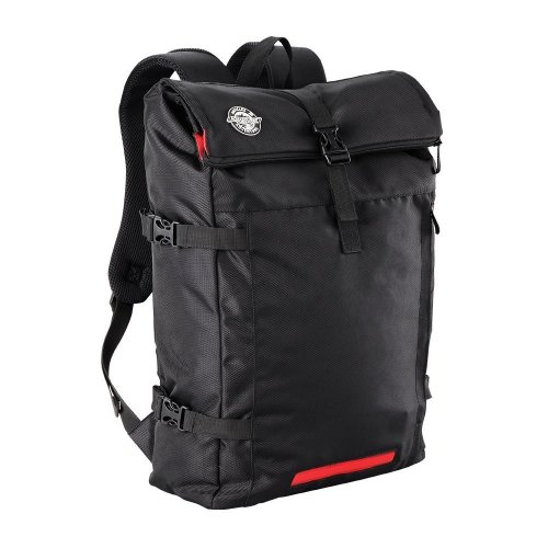 Aquabourne EOS Commuter Cycling Backpack with integrated LED safety light (Black)