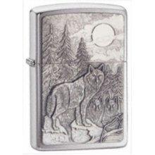 Brushed Chrome Timberwolves Emblem Zippo Lighter - New Windproof 20855 -  timberwolves emblem brushed chrome lighter new windproof 20855